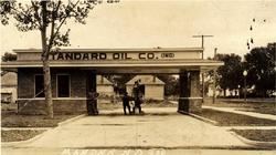 Masters Oil Company Filling Station at First Ave NW and Main St Mandan ND Standard Oil of Indiana