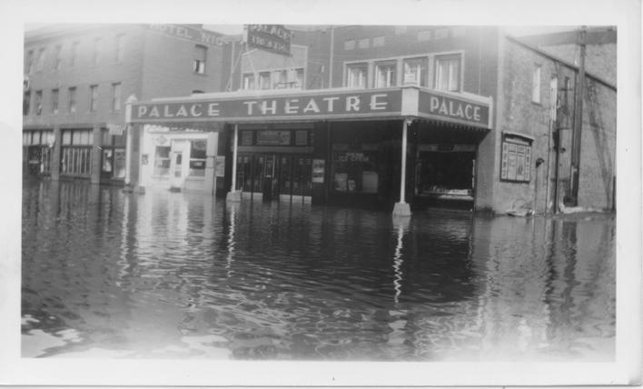 Flood of 1946, Palace Theatre Downtown Mandan
